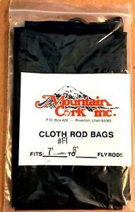 "Mountain Cork Black Cloth Sock - Fits 2 Piece 7' to 8' Fly Rod ( 54""L x 4""W )"