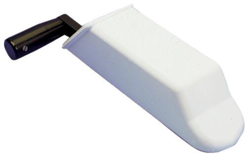 Winschkurbelhalter Winschen Halter Winschkurbel-Halterung weiß PVC 300 mm