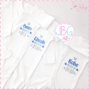 Personalised baby sleepsuitborn 2018 clothes new baby boys gift image is loading personalised baby sleepsuit born 2018 clothes new baby negle Images