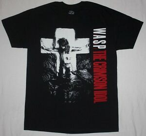 W-A-S-P-CRIMSON-IDOL-039-92-WASP-HEAVY-METAL-BAND-TWISTED-SISTER-NEW-BLACK-T-SHIRT