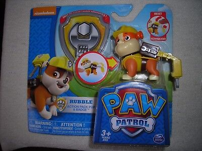 "Robodog HTF New Without Box 2.5"" Nickelodeon Paw Patrol Action Pack Pup /& Badge"