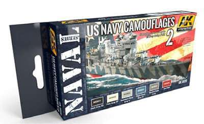 US Navy Camouflage Set Vol.2, 17ml by AK Interactive, Model Paint 8436535550208