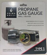 Propane Gas Gauge - Prima Grill, Grill/Heater, Shows propane levels at a glance