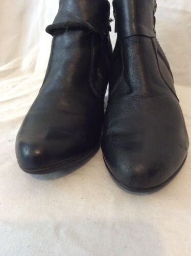 caviglia in Stivali Janet pelle Black 38 D alla taglia OqPqS1wz7