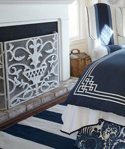 Details About Neiman Marcus Antique White Urn Firescreen Fireplace Screen Iron Horchow