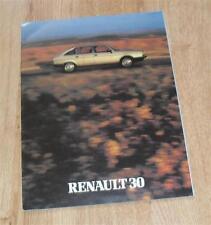 Renault 30 TX V6 Brochure 1981