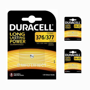 3-x-Genuine-Duracell-377-SR626SW-AG4-SR66-D377-Watch-Batteries-Silver-Oxide