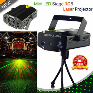 details about led dj disco stage club pub party sound activated laser strobe projector lights