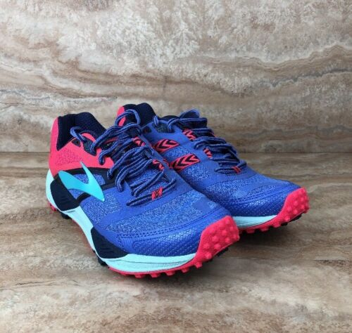 Brooks Cascadia 12 Trail Running Shoes Womens Athletic Sneakers Baja Blue Pink