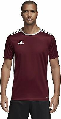 Adidas Entrada Maroon/White 18 Soccer Jersey | eBay