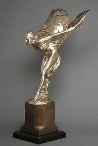 rolls royce hood ornament large polished bronze sculpture. Black Bedroom Furniture Sets. Home Design Ideas