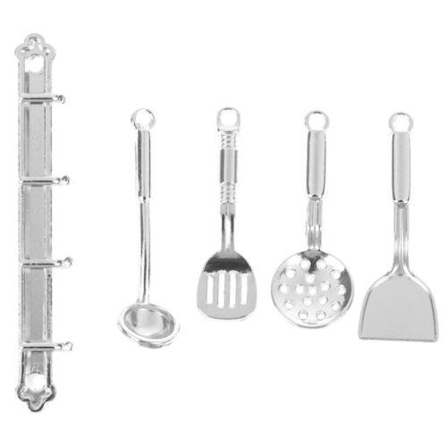Cozinha 5Pcs//set 1:12 Ferramentas De Panelas Miniatura Da Casa De Boneca Dollhouse accessoriesxb