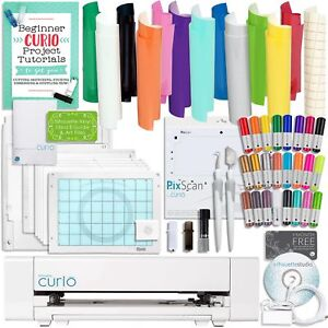Silhouette-Curio-Starter-Bundle-with-12-Oracal-Sheets-Pixscan-Mat-24-Sketch-Pe