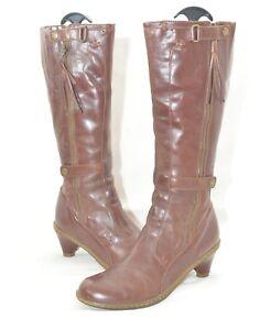 Magnifique-Chaussures-Femme-Dr-Martens-Docs-Jenna-en-cuir-marron-Pointure-7-UK-41-EUR-tres-bon-etat