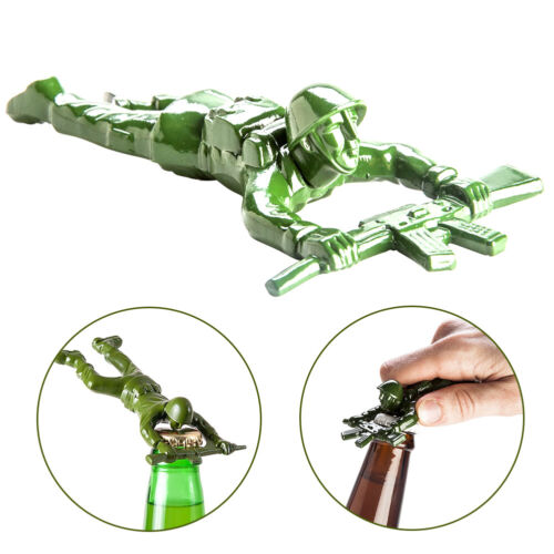 Portable Bottle Opener Funny Army Man Party Supplies Military Veteran Gift Metal