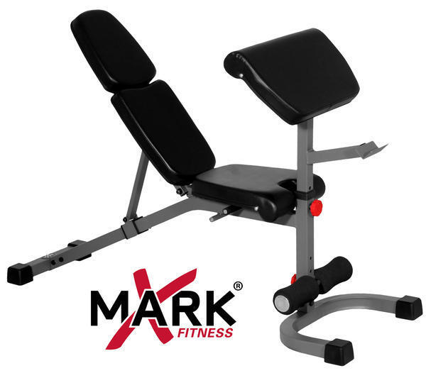 NEW XMark FID Flat Incline Decline Weight Bench with Preacher Curl XM-4417
