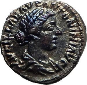 LUCILLA-Authentic-Ancient-164AD-Rome-Genuine-Silver-Roman-Coin-JUNO-BABY-i74533