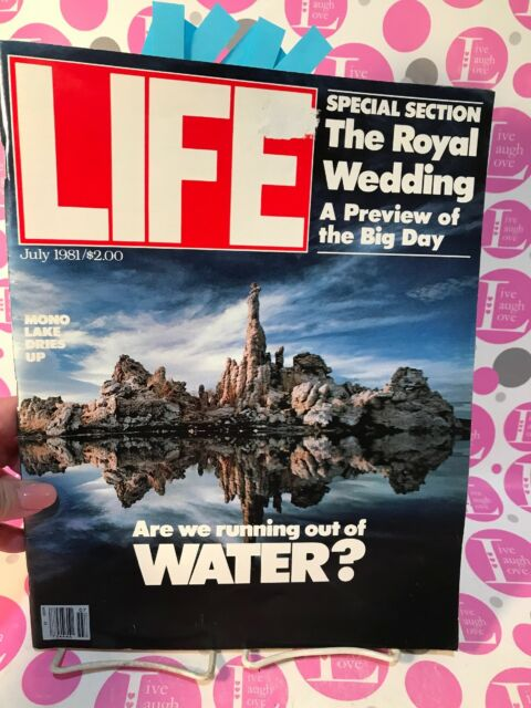 Life Magazine JULY 1981 Princess Diana Wedding Preview, Cover: Water Shortage NM