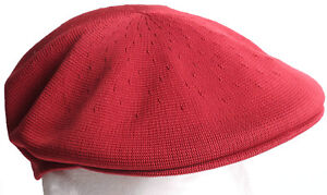 a69c31a1747 Kangol Tropic 504 Dark Maroon Red Kangaroo Flat Cap Hat - Size SMALL ...
