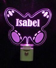 Personalized Butterfly LED Night Light, Girls Nursery Lamp Baby Light - Gift