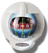 NAUTOS 64417 – CONTEST 101 COMPASS-VERTICAL MOUNT-WHITE BEZEL – RED CARD