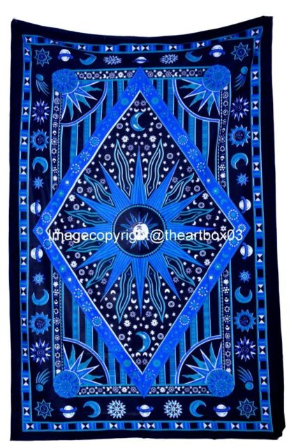 Burning Sun Top Quality Wall Hanging Throw Cotton Bedding Twin Tapestry indian