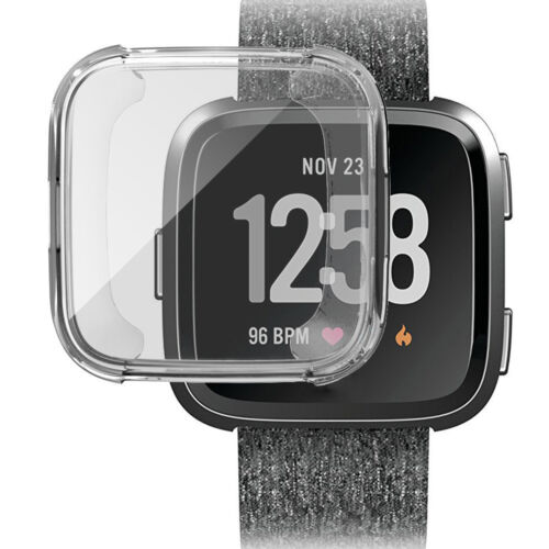 For Fitbit Versa Screen Protector Case Full 360 Protection Gel Bumper Cover New