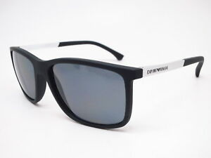 47a4bbc43a New Emporio Armani EA 4058 5063 81 Black Rubber with Polarized Grey ...