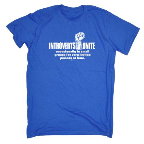 Drôle Nouveauté T-shirt homme tee tshirt-Introverts UNITE occasionnellement