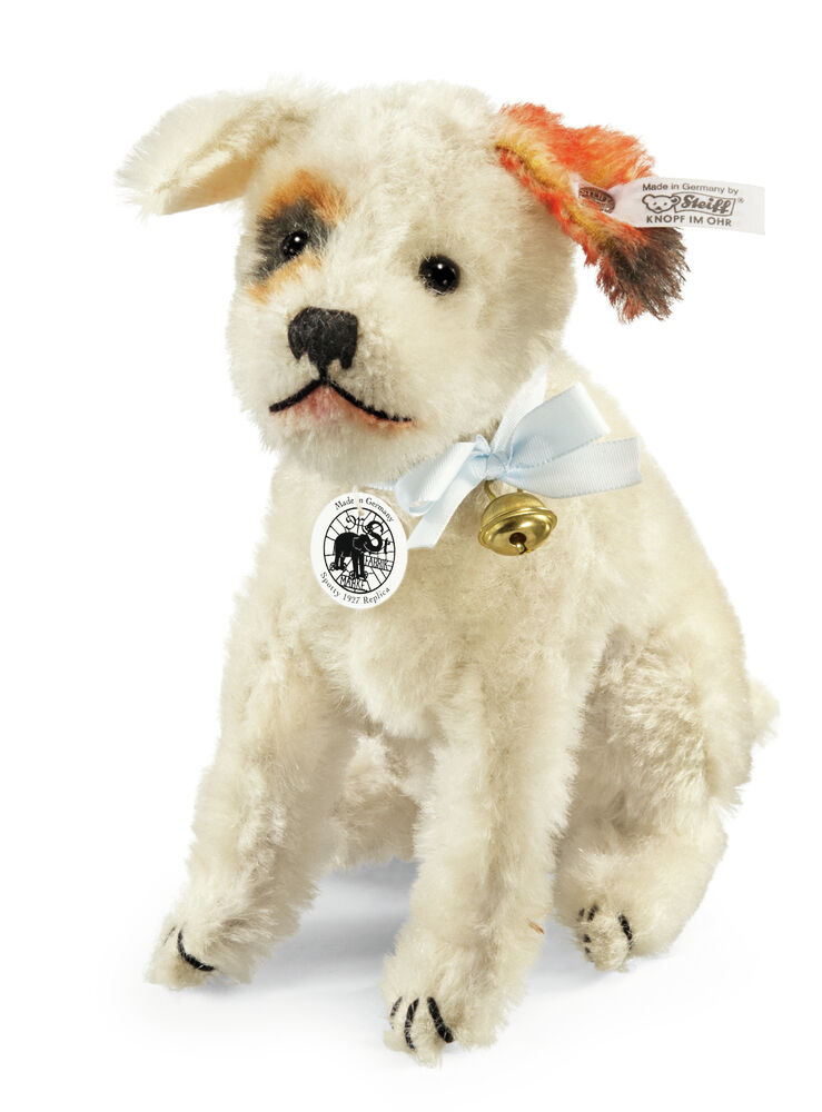 Steiff Mohair Spotty DOG REPLICA 1928 Nuovo Inscatolato LTD EDITION EAN 403125