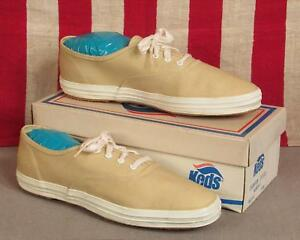 76923390ec8 Image is loading Vintage-1960s-Keds-Champion-Oxford-Canvas-Sneakers-Chino-