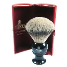 Kent BLK8 Shaving Brush Pure Badger Silver Tip Black Handle LARGE LUXURY Bristle