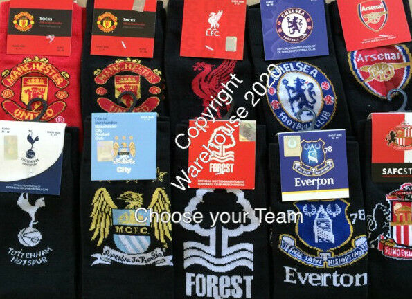 Football club Mens Logo Socks Genuine Licenced fits size 6/11 Top teams