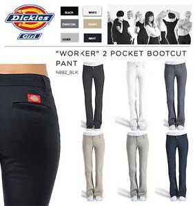 efb54cad6c2c1a DICKIES GIRLS SLIM FIT BOOTS CUT PANTS N882 WORKER WOMEN BLACK KHAKI ...
