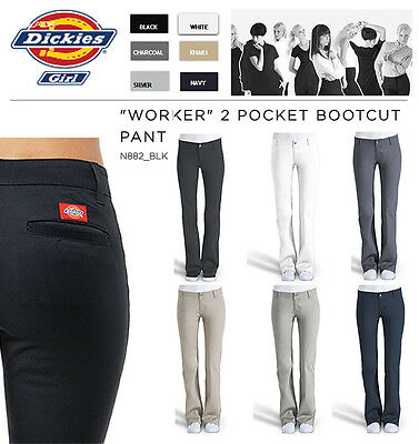 Dickies Juniors Plus Size Stretch Bootcut Pant