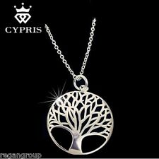 Tree Of Life Pendant Silver w/18 inch Necklace Cypris Stunning!