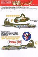 Kits-world 1/48 B-17f Flying Fortress Mighty Octava Fuerza Aérea « nariz Arte » 48009