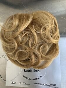 Blonde-Hair-Mono-top-Topper-Toppette-Toupee-Bangs-By-Louis-Ferre