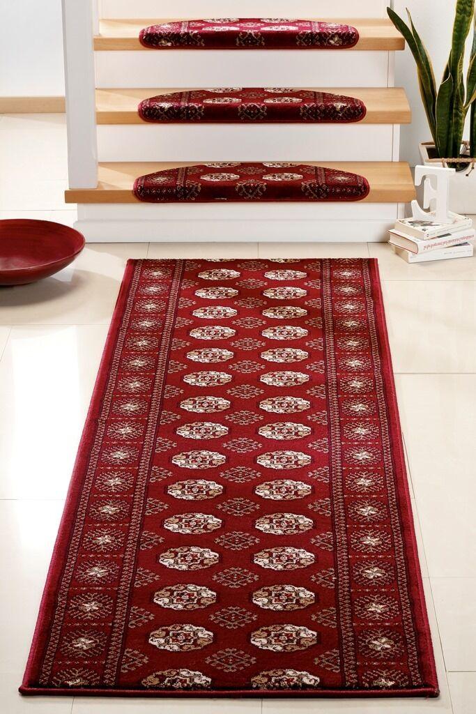 BOUCHARA rouge tapis 80 de marche et/ou de tapis coureur-coureur 80 tapis cm largeur 134c2e