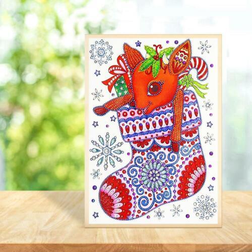 Christmas 5D DIY Special Shaped Diamond Painting Cross Stitch Kits Decor Xmas US