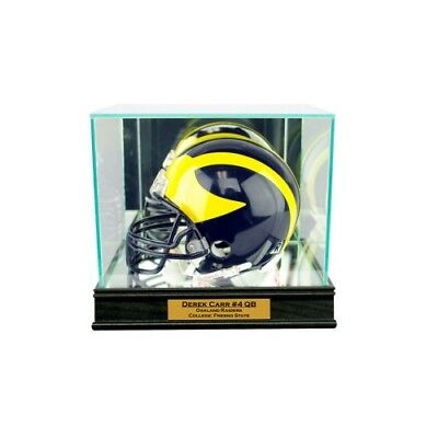 Autographs-original Trustful New Derek Carr Oakland Raiders Glass And Mirror Mini Helmet Display Case