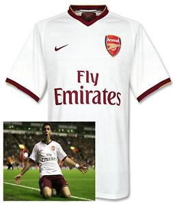 Raro-Nuevo-Nike-Arsenal-Club-de-Futbol-Herbert-Chapman-Camisa-Blanca-2007-08-XL
