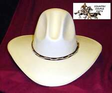 10490d6c787b3 item 2 Tom Mix Gus Style Canvas Straw Cowboy Hat - Size 7 1 8 -Tom Mix Gus  Style Canvas Straw Cowboy Hat - Size 7 1 8