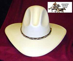 Image is loading Tom-Mix-Gus-Style-Canvas-Straw-Cowboy-Hat- a7aaa8ebffb