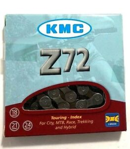 KMC-Z72-6-7-8-18-21-24-Speed-Bicycle-Chain-116L-Road-MTB-fits-Shimano-SRAM