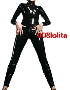 100 latex rubber cool suit catsuit black tights bodysuit full body size xs xxl ebay. Black Bedroom Furniture Sets. Home Design Ideas