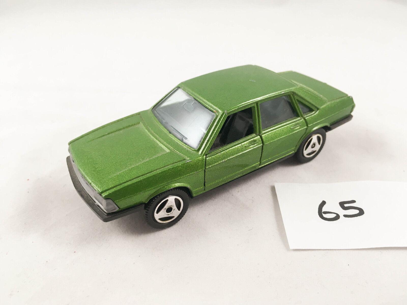 RARE Vintage HOT WHEELS MEBETOYS SB   A118 AUDI 100 verde Diecast Auto Giocattolo
