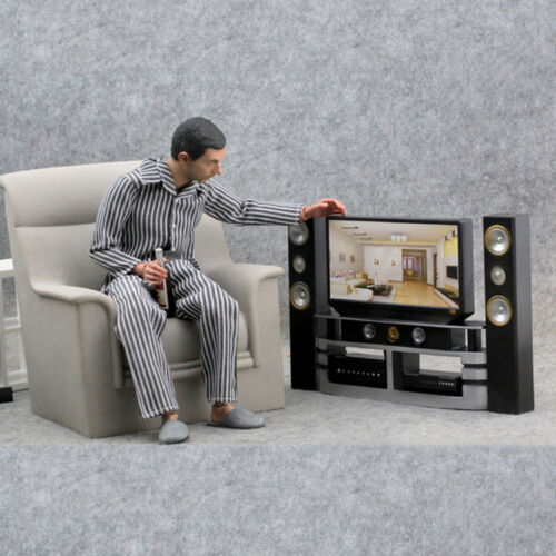 NEW 1//6 model The TV VCD Home theater Scene the furniture