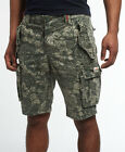 New Mens Superdry New Core Cargo Heavy Short Green Camo Banana Le