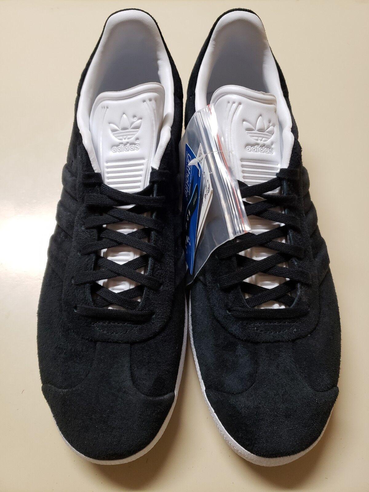 Adidas Gazelle  puntada y gire  Suede Negro blancoo para Hombre 11